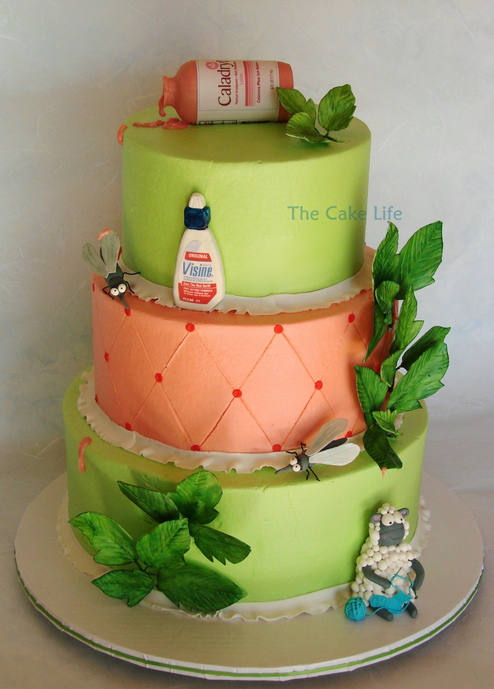 Cake Decorating Ivy Leaves : - 7 year itch anniversary cake with Chocolate Caladryl ...