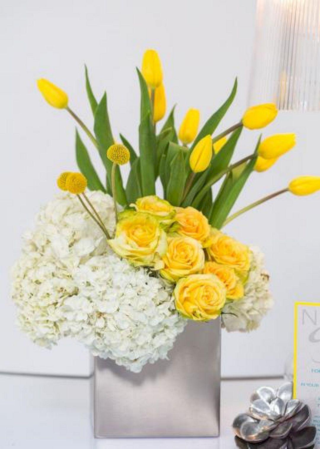tulip flower arrangement images