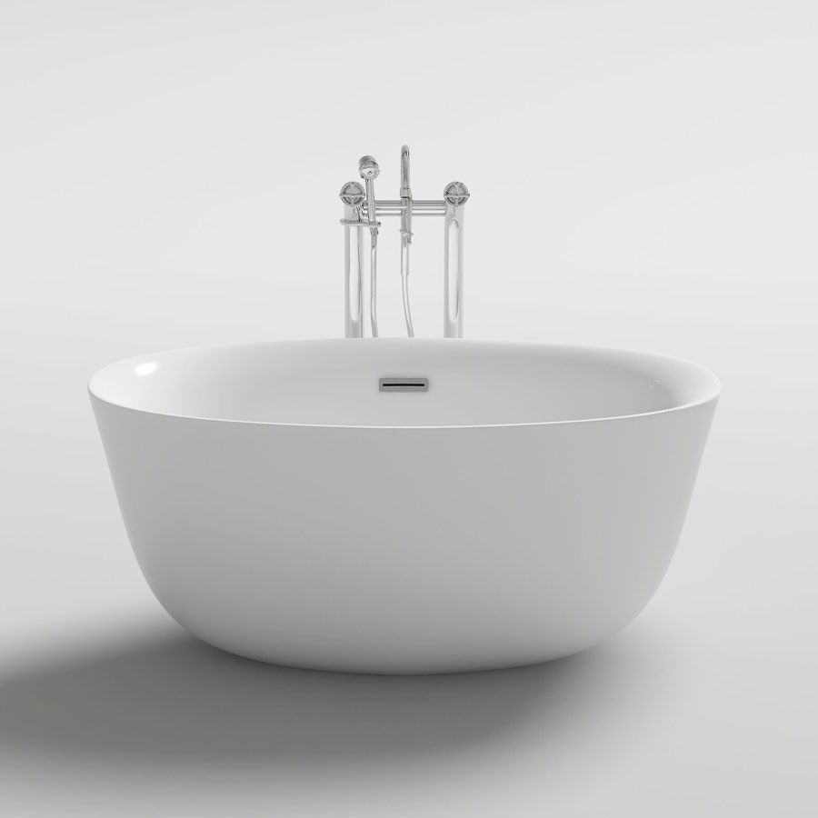 TERNI acrylic Bathtub 1300mm | ovale free standing 460 deep | Home ...