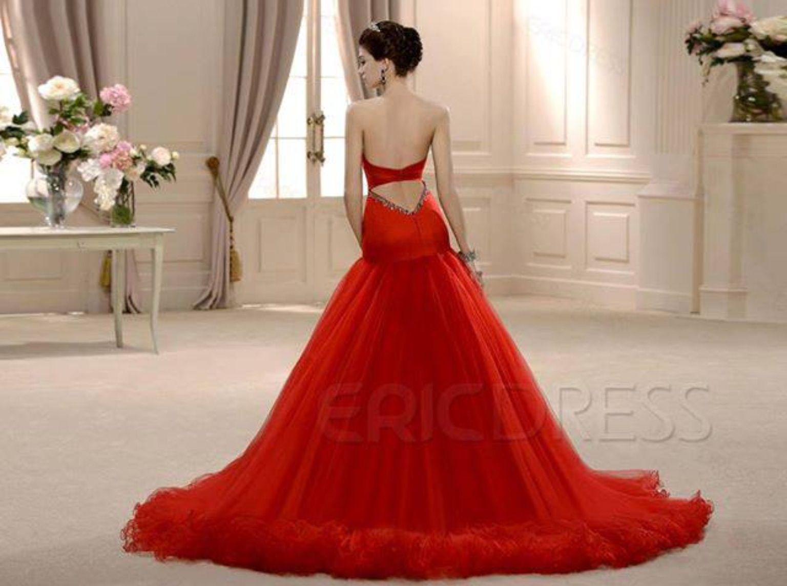 Long red dress for wedding  Wedding dress ideas red unique unusual  Wedding Dress Heaven