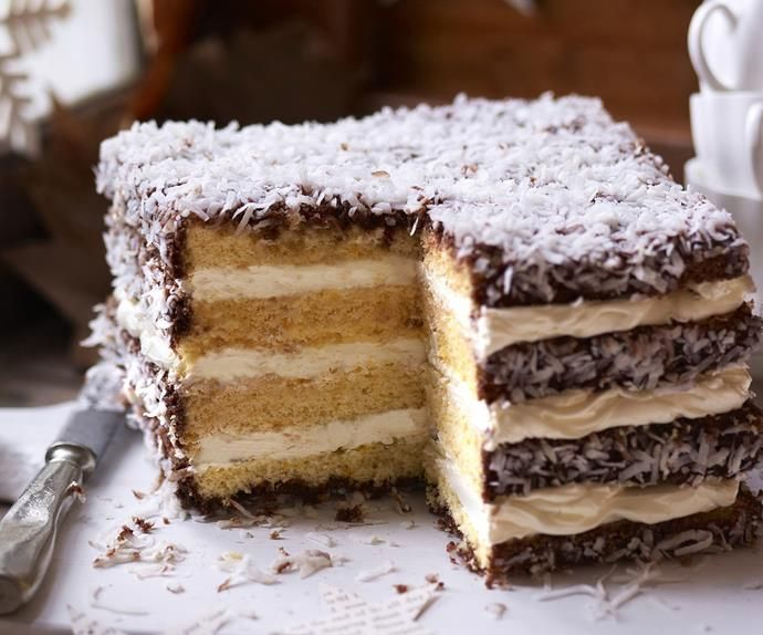 Photo of How to make a giant lamington layer cake
