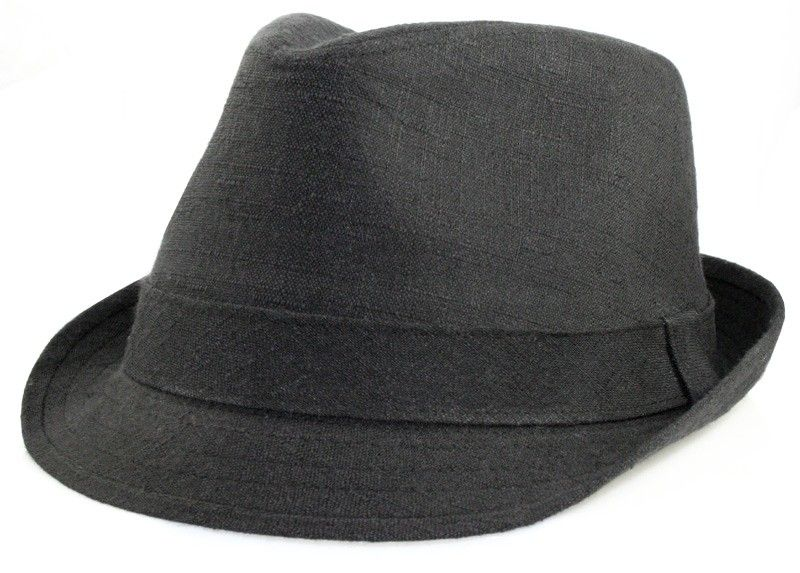 Linen Fedoras for Big Heads - Black - Our Linen Fedoras for Big Heads will  provide fc6ebe03dce1