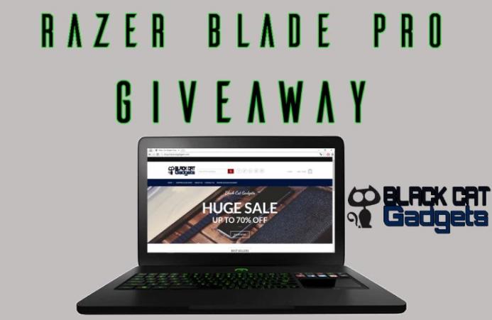 Razer blade laptop giveaway sweepstakes