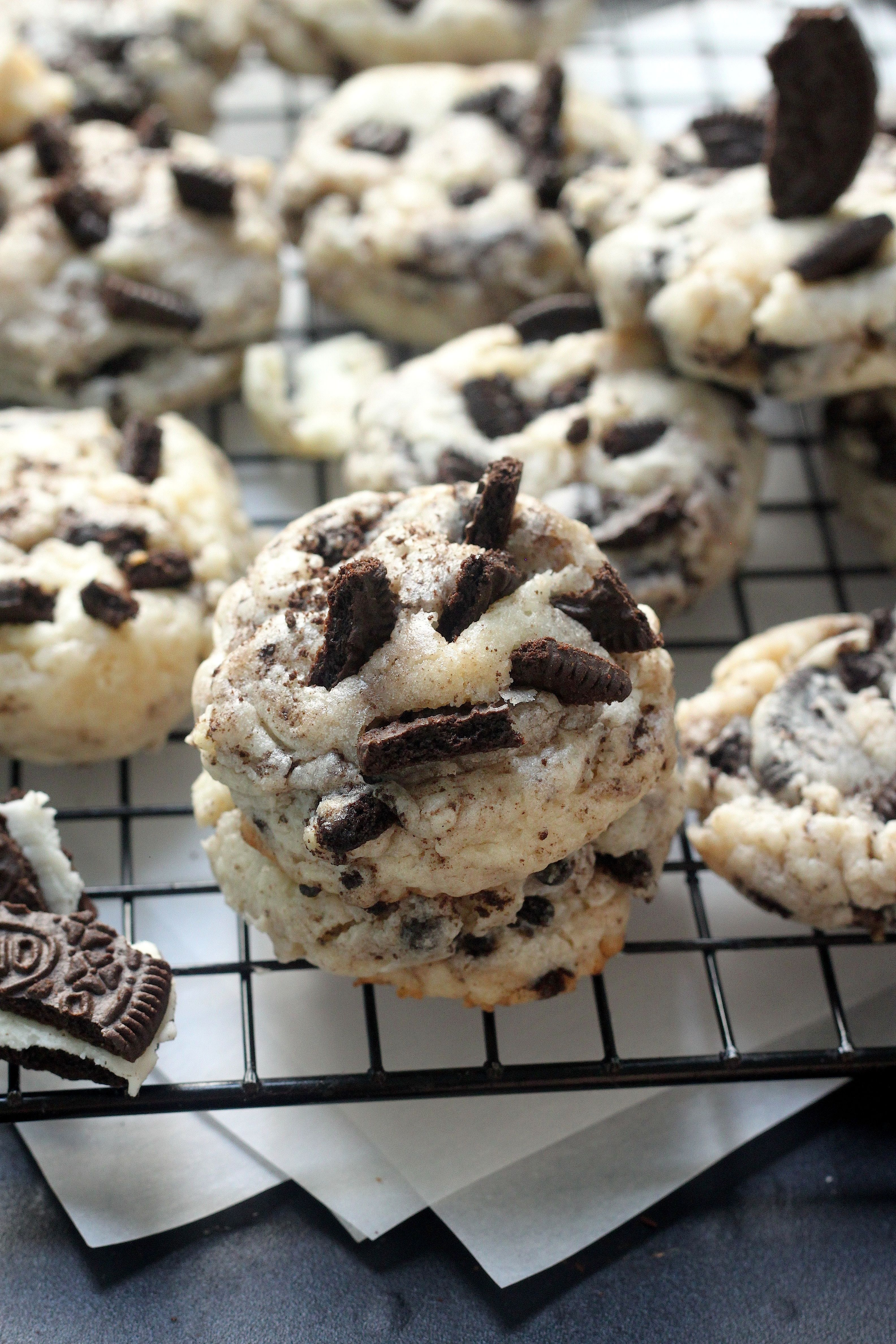 5 Ingredient Oreo Cheesecake Cookies Baker By Nature Recipe Desserts Oreo Cheesecake Cookies Oreo Cheesecake