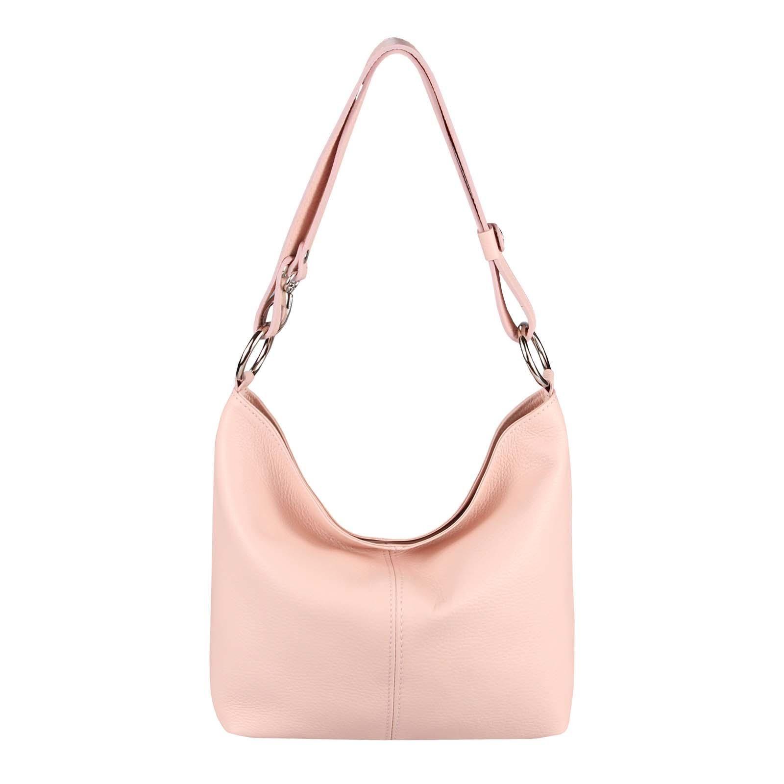Shopper Schulter Umhänge Hand Tasche Italy Leder Pink Crossover Bag Börse Pelle