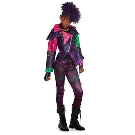 Disney Store Descendants Deluxe Swimsuit Girl Mal Maleficent 2 Piece Swim Outfit