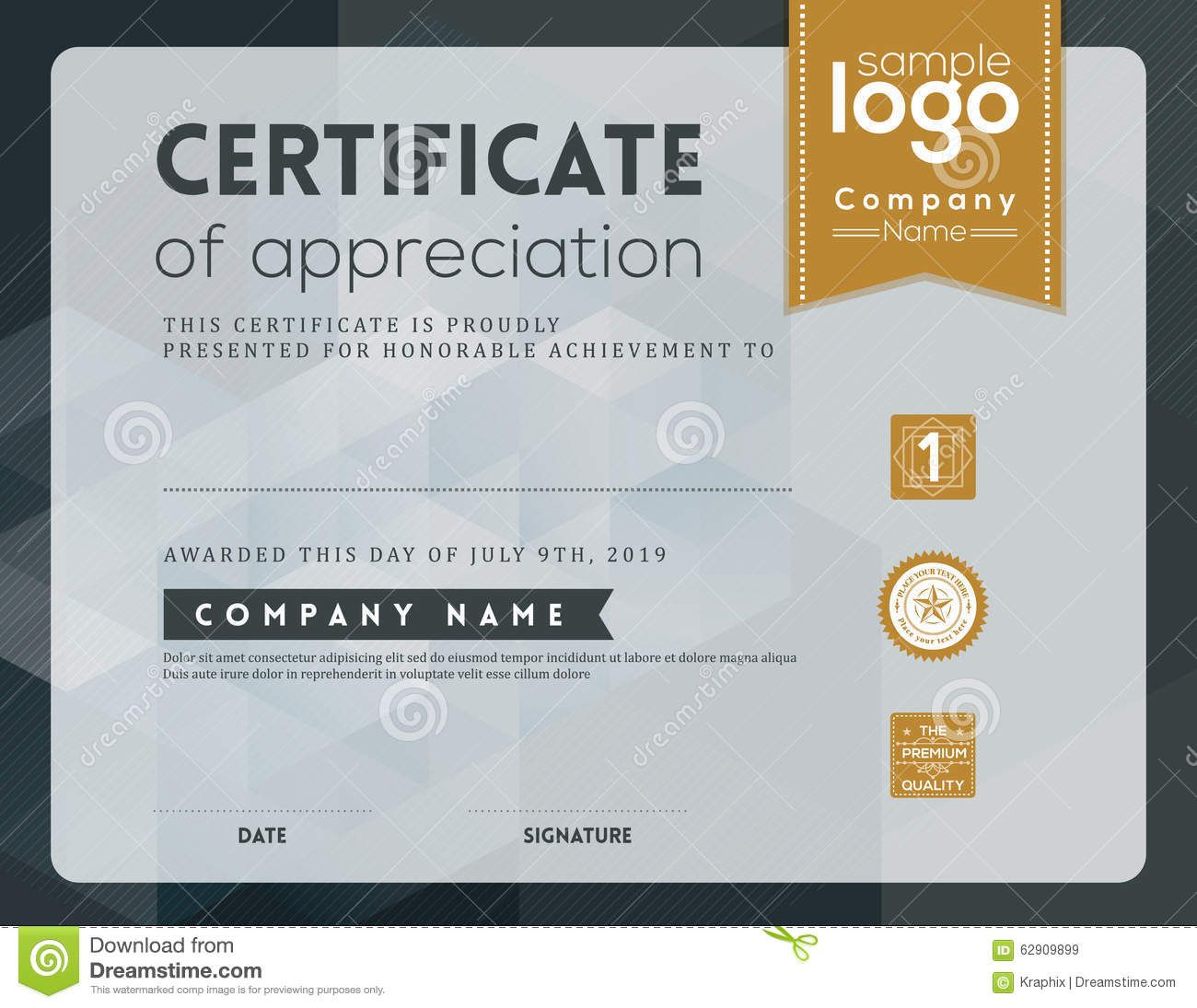 Modern certificate design template fieldstation alramifo Gallery