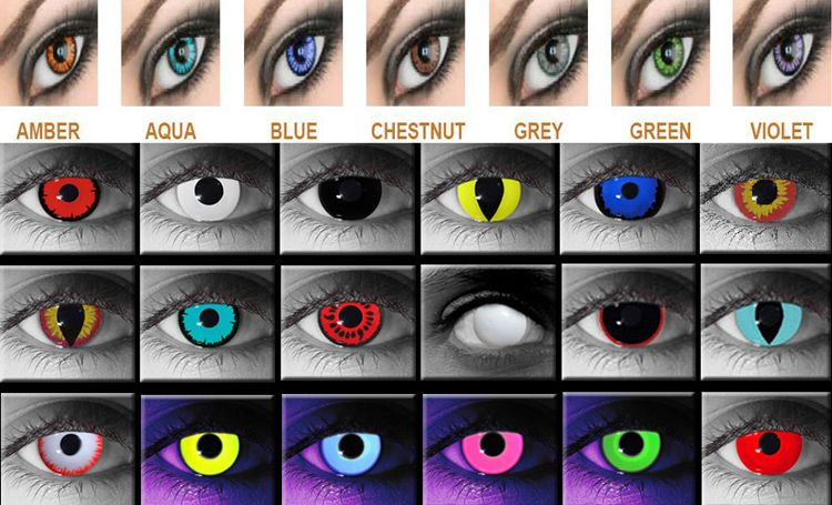 how to put in halloween eye contacts