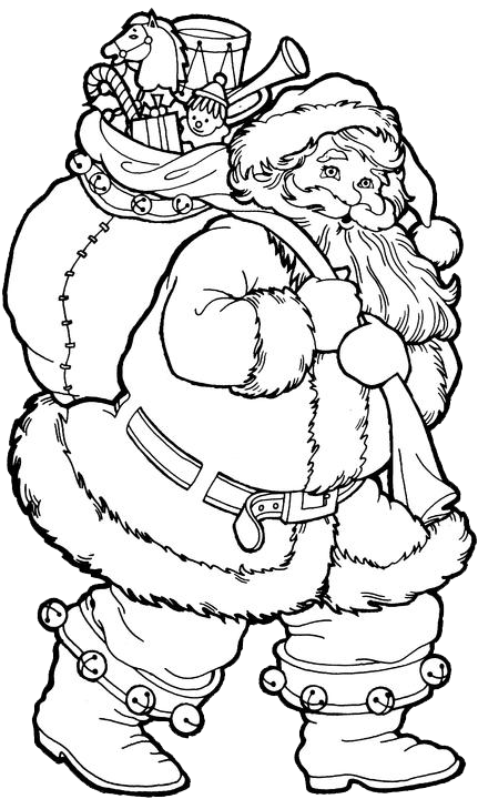 santa claus coloring pages 1 free patterns what a great looking santa - Coloring Pages Santa