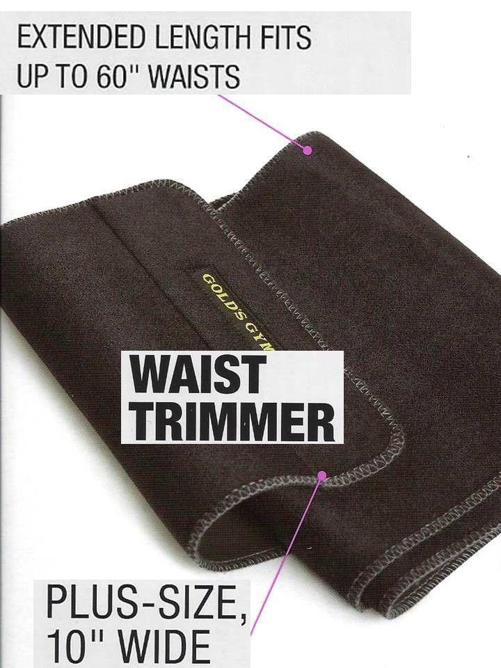 157cc6ad84 Gold s Gym PLUS SIZE Waist Trimmer Belt Adjustable Exercise 60