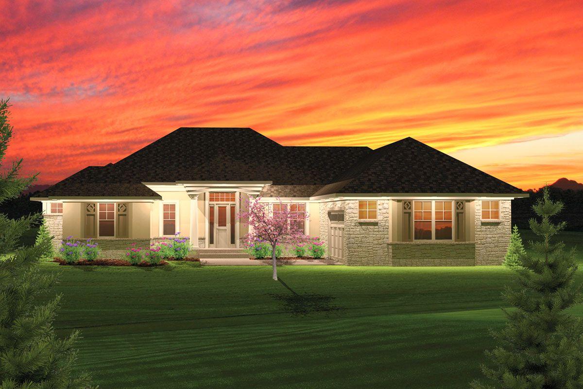 Plan 89825AH 2 Bedroom Hip Roof Ranch Home Plan Ranch