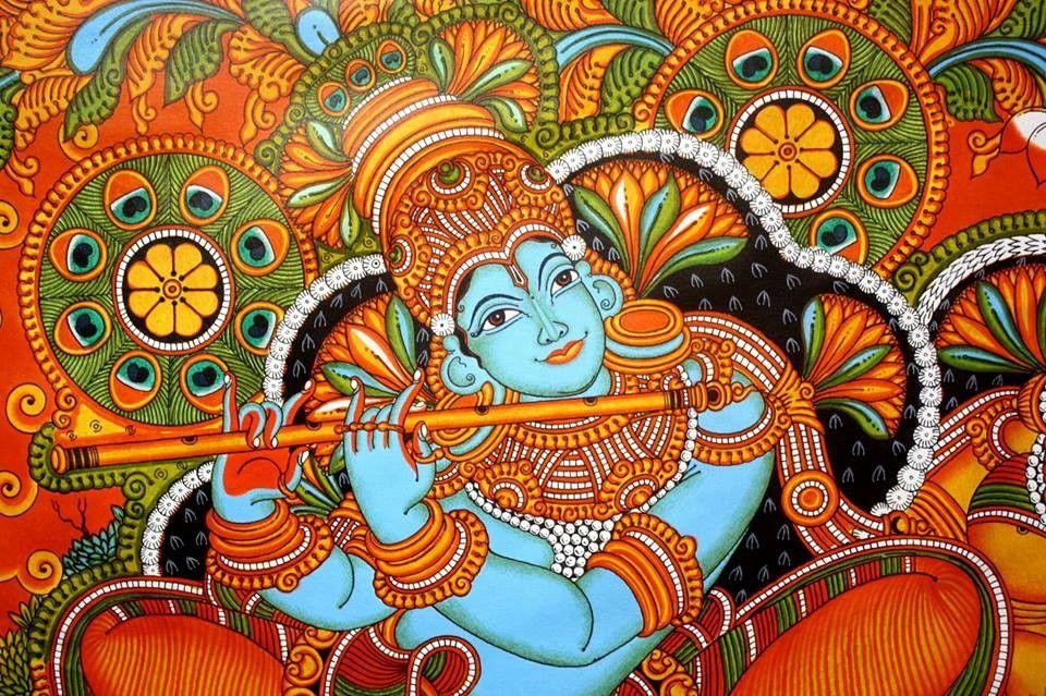 Pin by Ashwini Krishna on ❤ Mural ❤ | Kerala mural painting, Buddha art  painting, Mural art design
