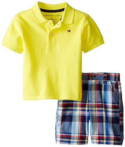 a8ca23778cdf6 Tommy Hilfiger Baby Boys Ivy Polo Pique Set B Yellow Fish 18 Months *** For  more information, visit image link.