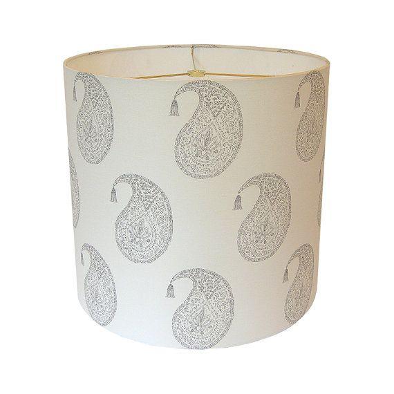 Custom Lamp Shade - Paisley Lampshade - Boho Lamp Shades ...