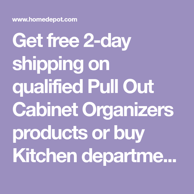 Pull Out Cabinet Organizers - Kitchen Storage & Organization - The Home Depot #cabinetorganizers