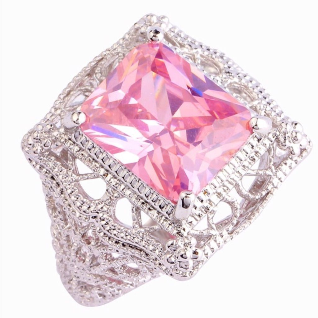 Pink Topaz Sterling Silver Ringflash Sale   Pink topaz, Topaz and ...