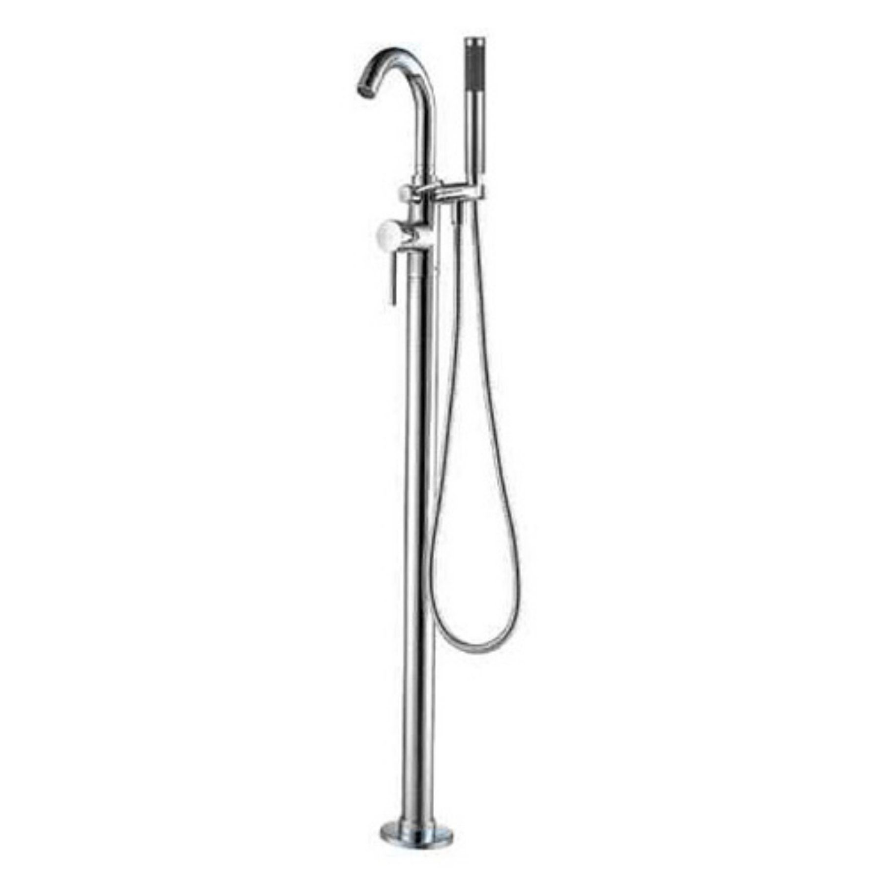 Alfi Ab2534 Floor Mounted Tub Filler Mixer With Hand Shower