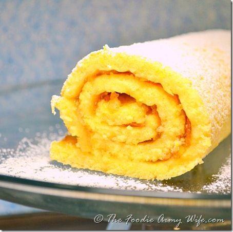 Rolled orange sponge cake recipe