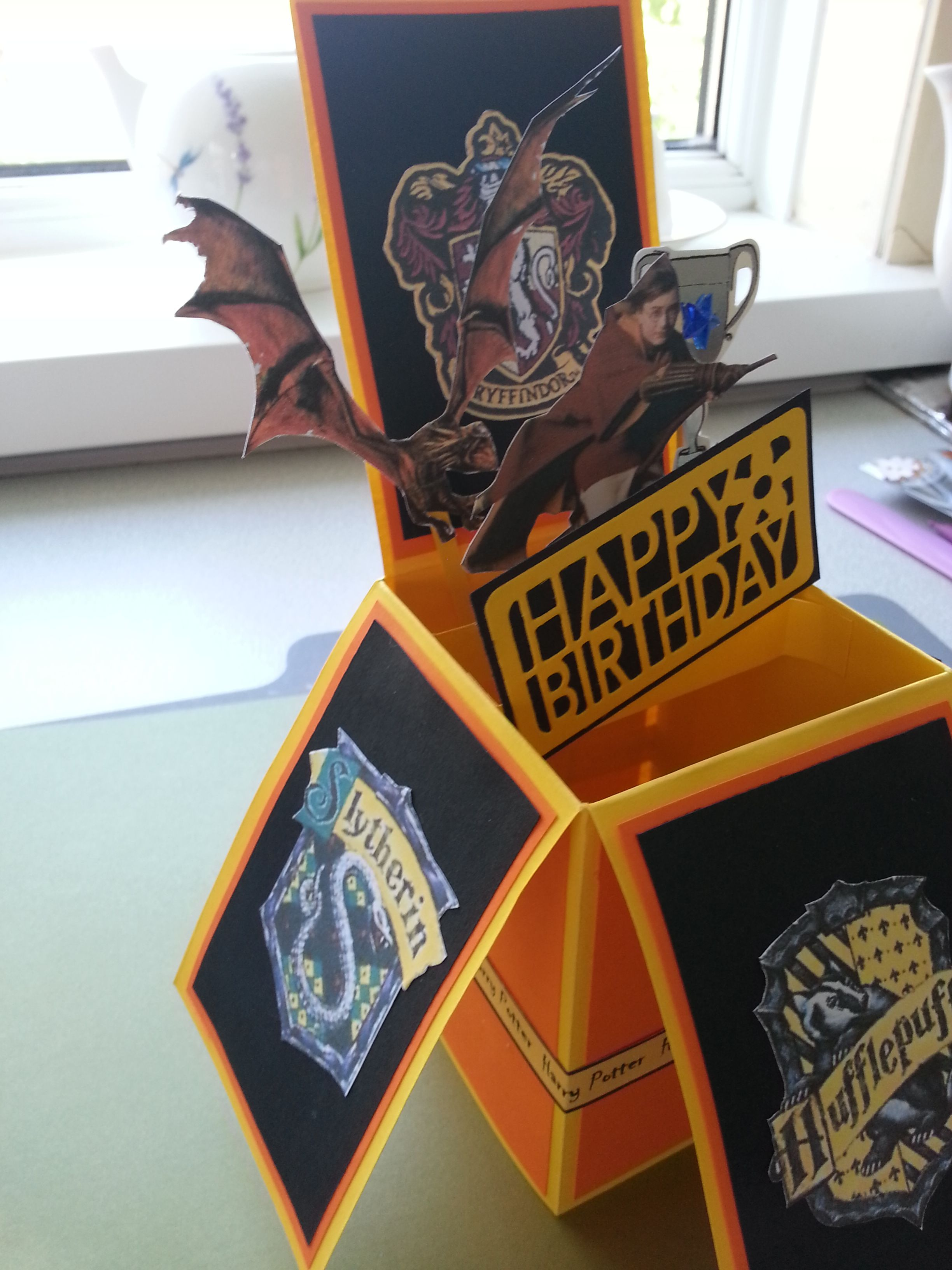 A magical harry potter box card handmade by me