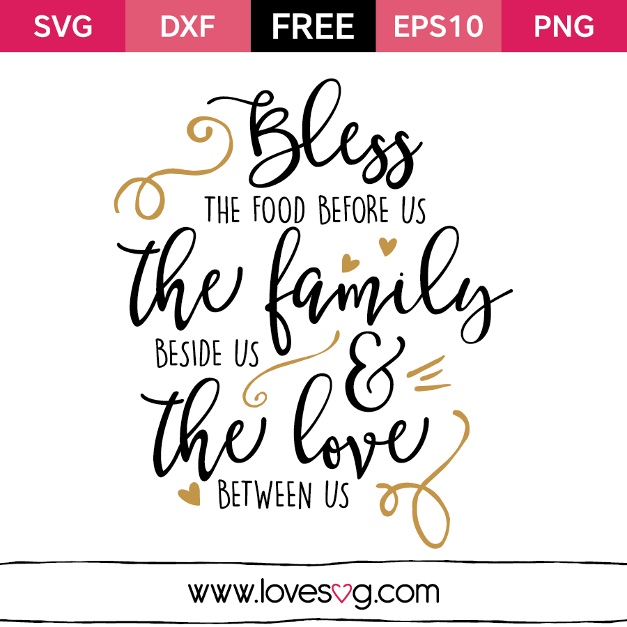 Download Bless the food before us | Cricut, Svg files for cricut ...