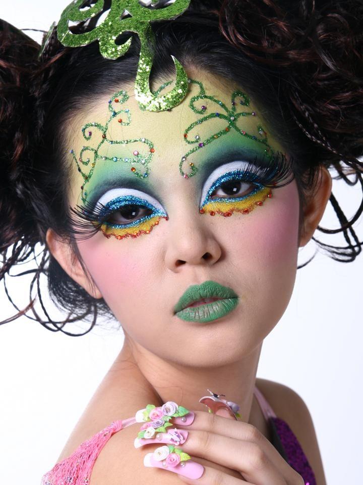 Malaysian Fantasy Makeup fantasy makeup green720 x 960