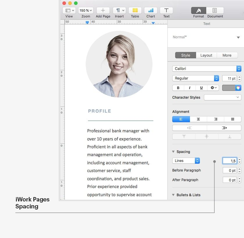Modern Resume Template [120430] (With images) Microsoft