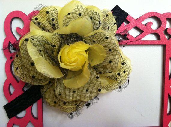 Large Flower headband by LittleAsBowtique on Etsy, $6.00