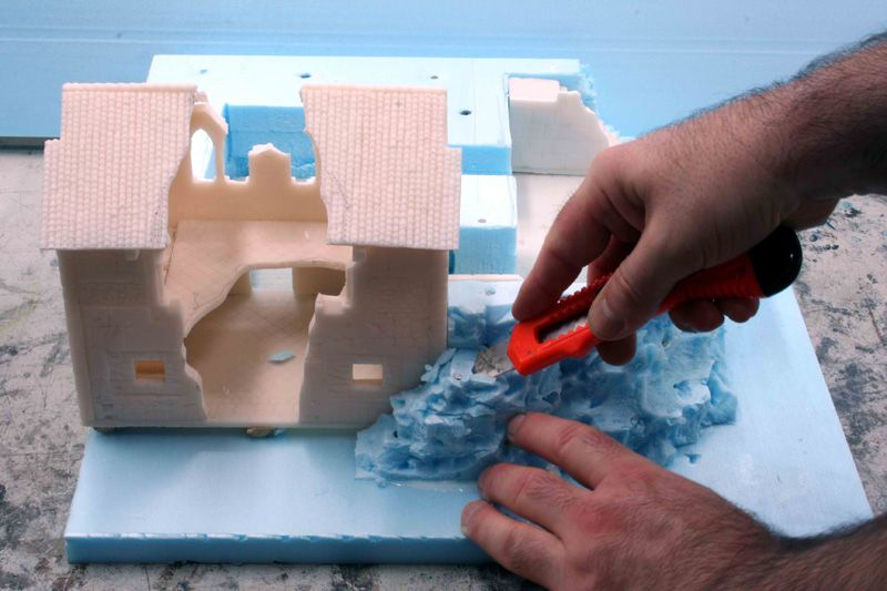 How To Work With High Density Polystyrene Part 2 Foam Crafts Crafts Miniature Gaming