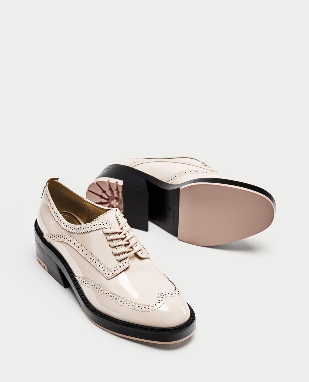 872b28bc031 BLUCHER CHAROL PICADOS-Zapatos planos-ZAPATOS-MUJER