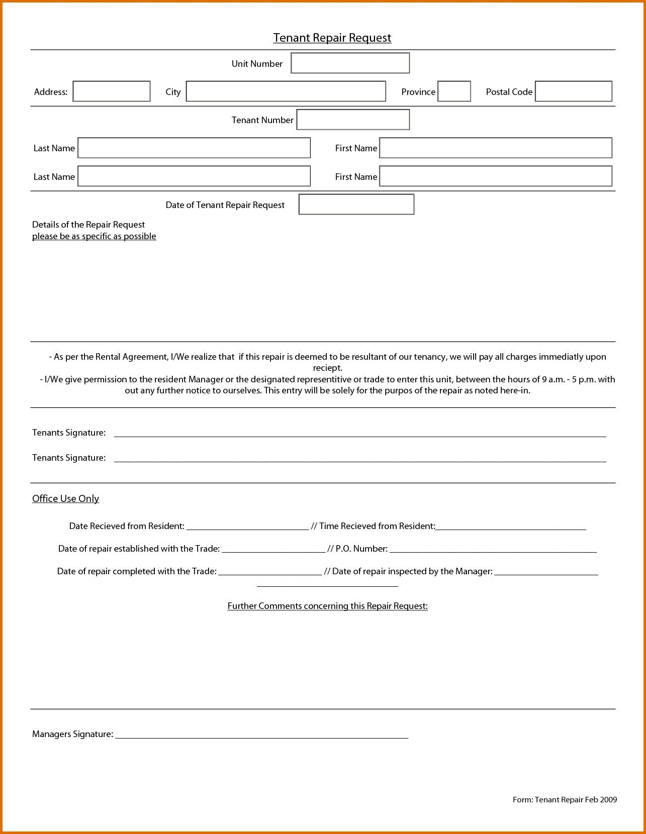 28 Maintenance Service Request Form Template In 2020 Templates