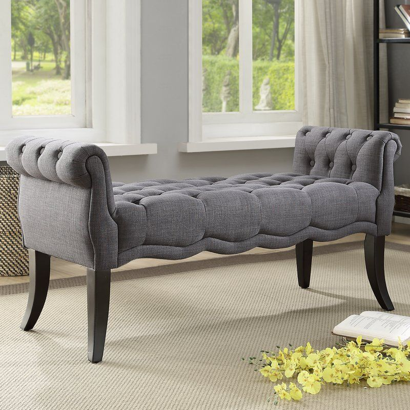 Chaise Upholstered Bench Elegant Benches Furniture Elegant benches for living room