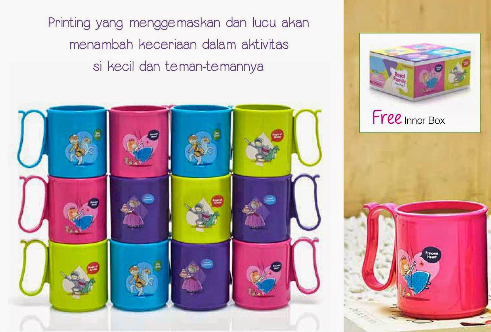 Perlengkapan Makan Tupperware Peralatan Minum Micro Mug