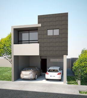 Sensacional cuadrada y minimalista fachada de casa for Casa tipo minimalista
