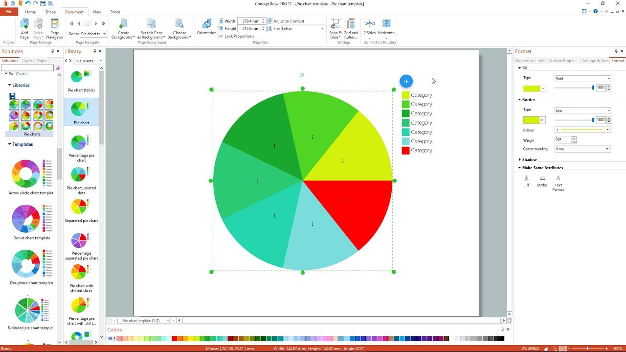 How To Draw A Pie Chart Using Conceptdraw Pro App Pie Chart Draw A Pie Chart Donut Chart [ 720 x 1280 Pixel ]
