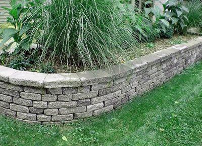 Aiuole per giardino tra vialetti e muretti - Muretti in pietra giardino ...