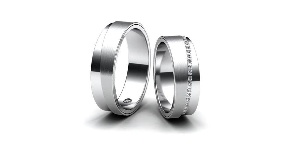 Designove Snubni Prsteny Z Bileho Zlata Prsteny Jsou Rozdeleny Na