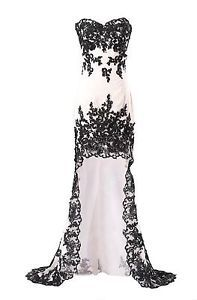 Black and white masquerade prom dresses
