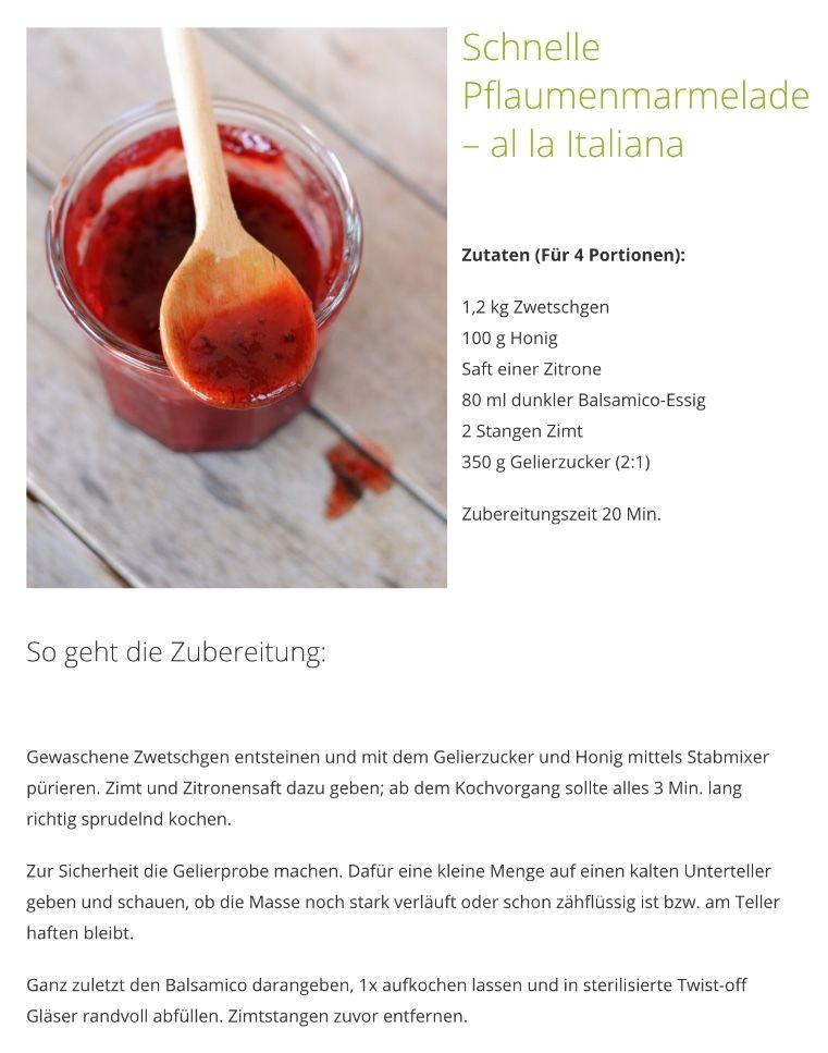 Pin Von Brigitte Auf Jam Sauces Gelierzucker Zubereitung Zutaten