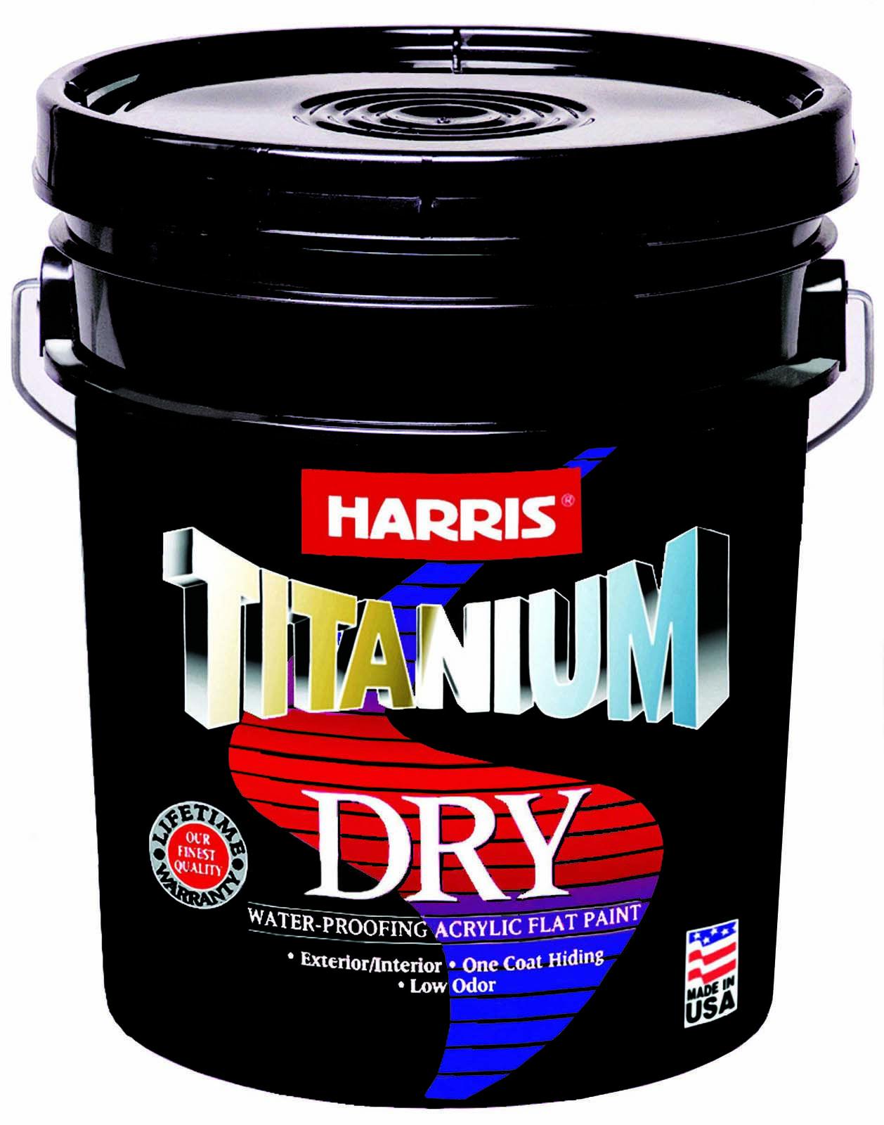 Harris Titanium Dry Pintura Acrilica A Prueba De Agua 3 En 1 Pintura Primer Sellador Roof Sealer Flat Paint Exterior Paint