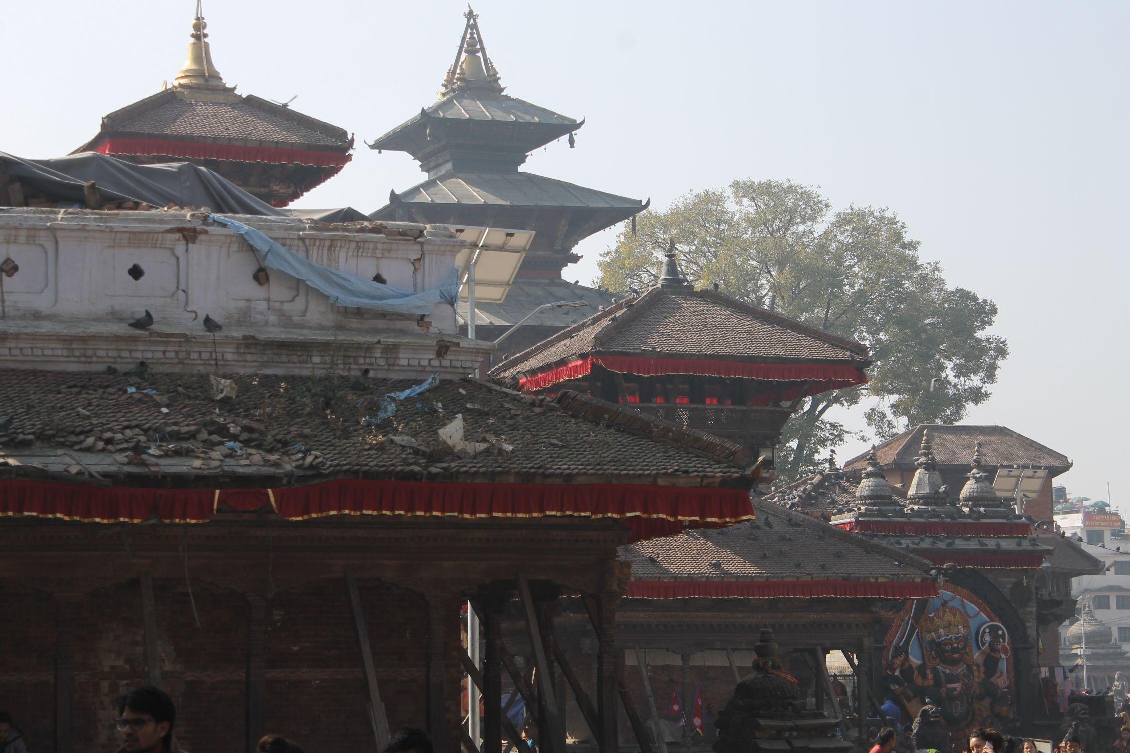 Uno de los templos de la Kathmandu Durbar Square