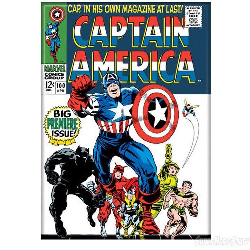 Captain America Issue 100 Full Color Magnet Captain America Comic Books Captain America Comic Cover Captain America Comic