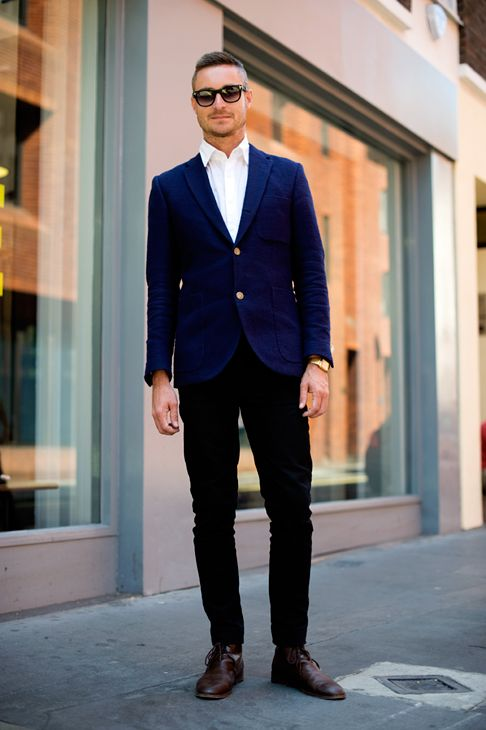 Navy Blue Pants With Brown Or Black Shoes