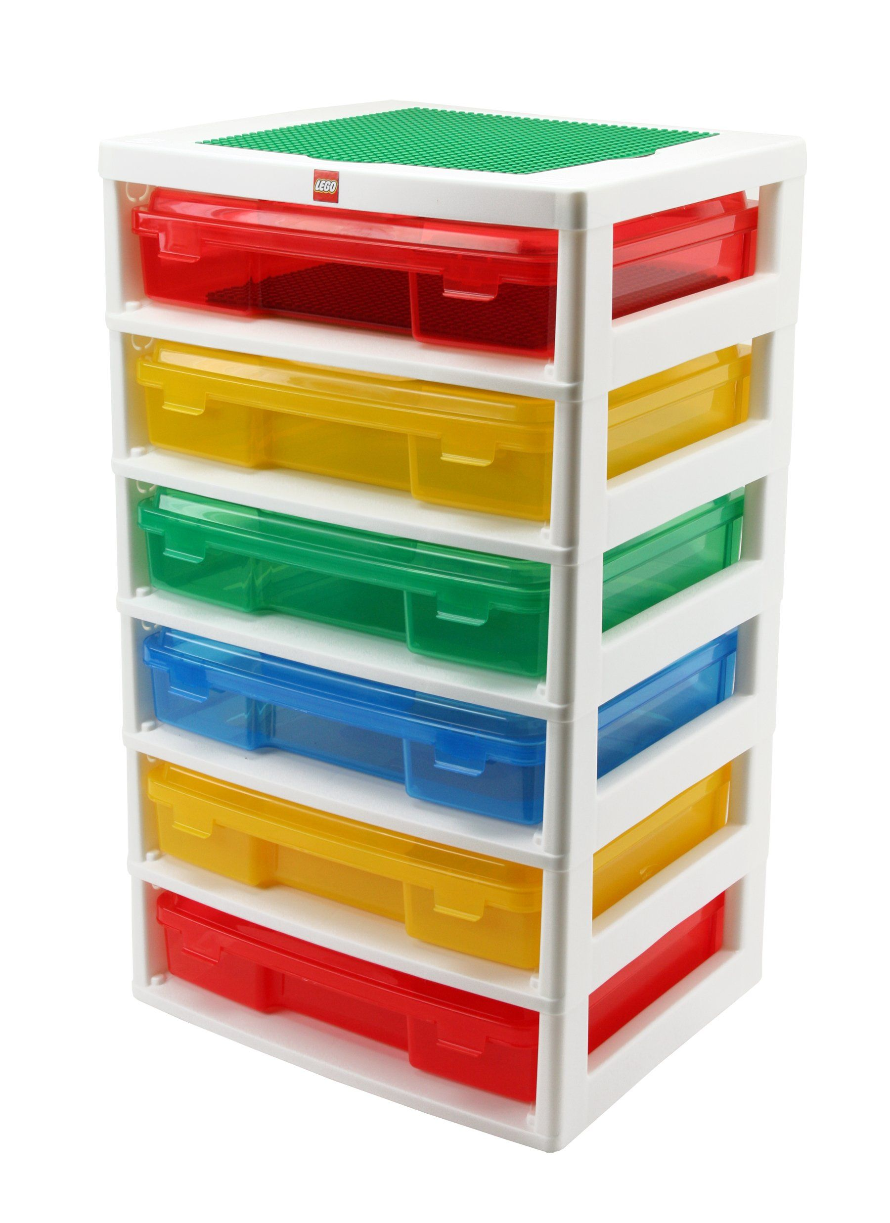 $54 Amazon.com - IRIS LEGO 6-Case Workstation and Storage Unit with 2 Base  Plates - Toy Interlocking Building Accessories