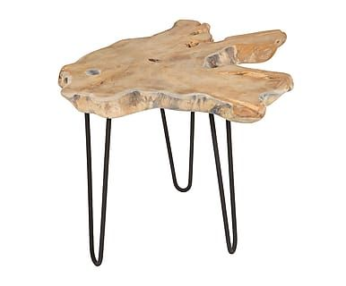Mesa auxiliar en madera de teca Lisena - natural