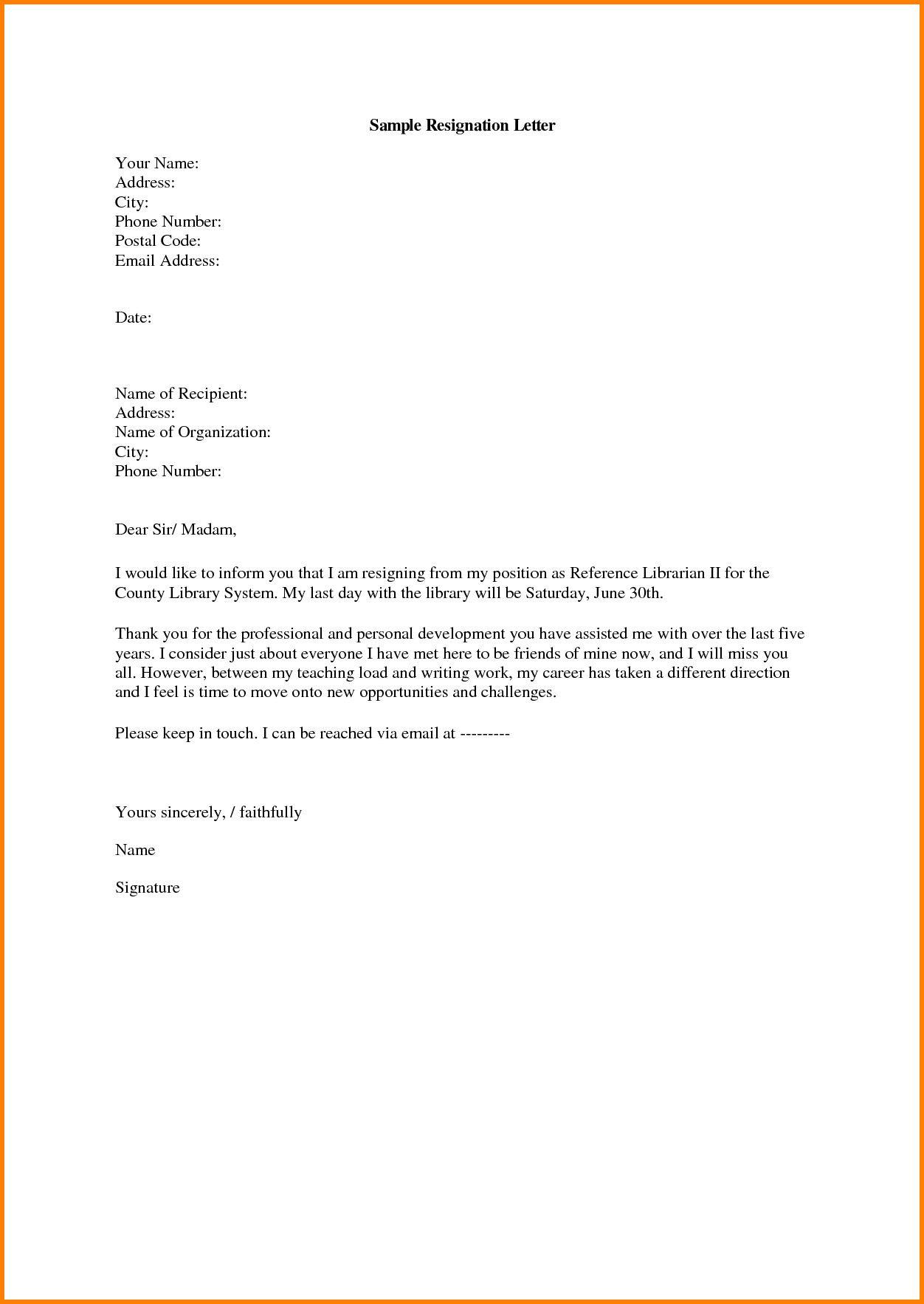 Resignation Letter For A Teacher Inspirational 8 Elementary