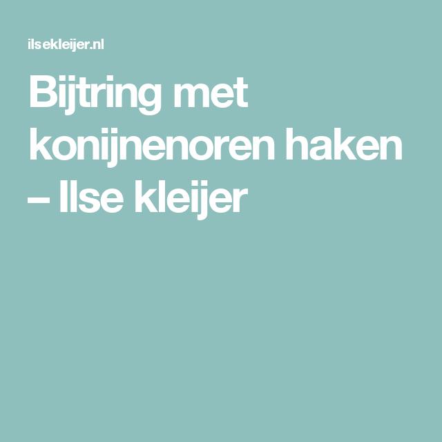 Bijtring Met Konijnenoren Haken Ilse Kleijer Baby Pinterest
