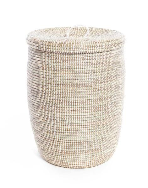 Tall Plastic Laundry Basket Mesmerizing Handwoven Grass & Recycled Plastic Tall Hamper Fair Trade  White Decorating Inspiration