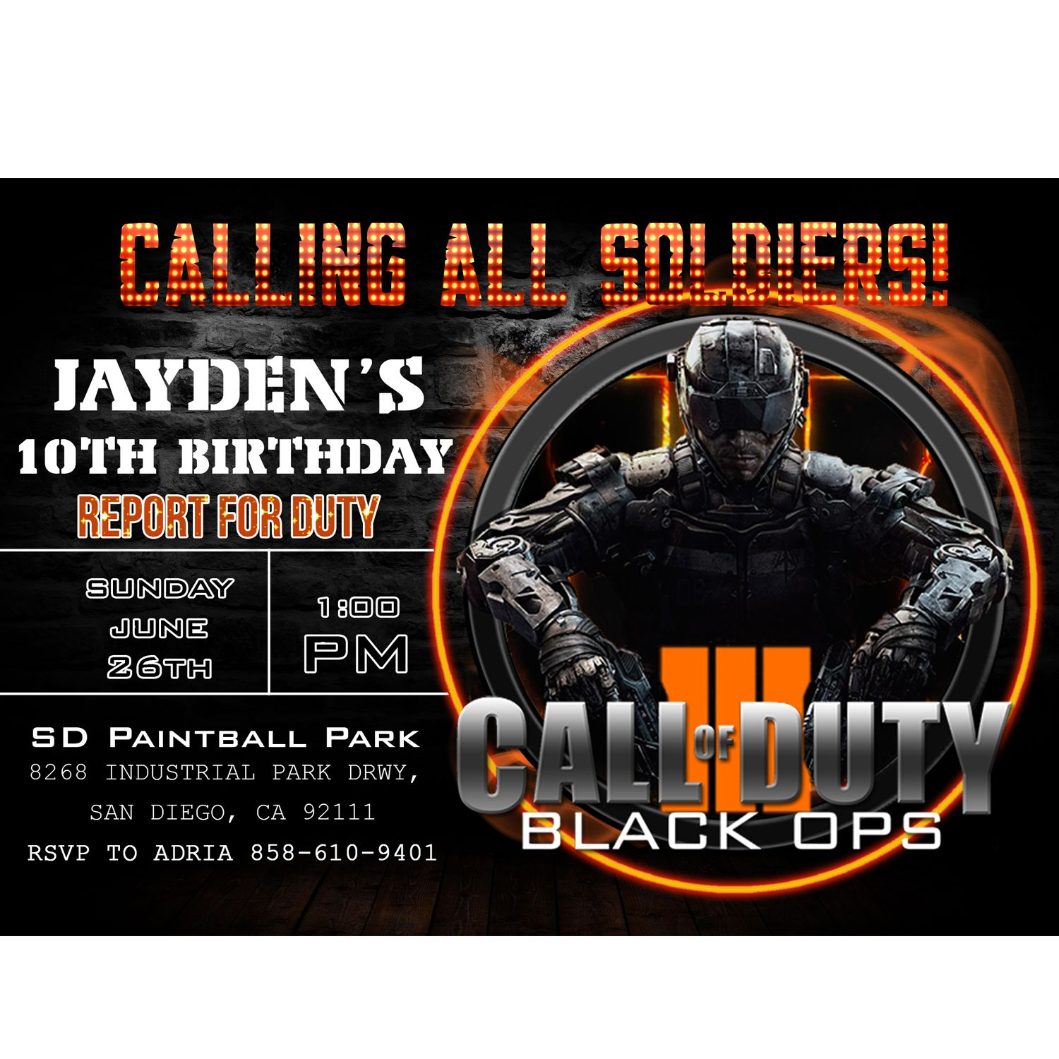 Call of duty invitation call of duty birthday invitation call of call of duty birthday invitation call of duty filmwisefo Image collections