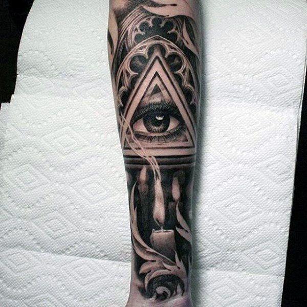 mens-full-sleeve-gray-shaded-eye-and-lit-candle-tattoo.jpg ...