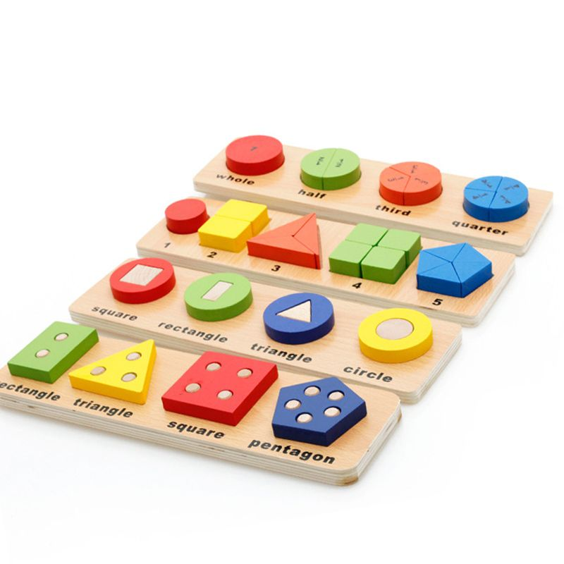 Multifunction Baby Early Learning Wood Shape Learn Toy Children Educational  3D Wooden PuzzleToys Free Shipping 1pcs